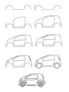 Drawn vehicle simple Step small draw deviantart car
