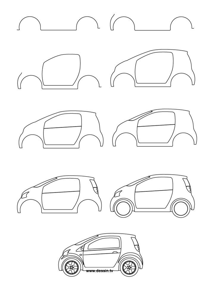 Drawn vehicle simple Step small draw on car