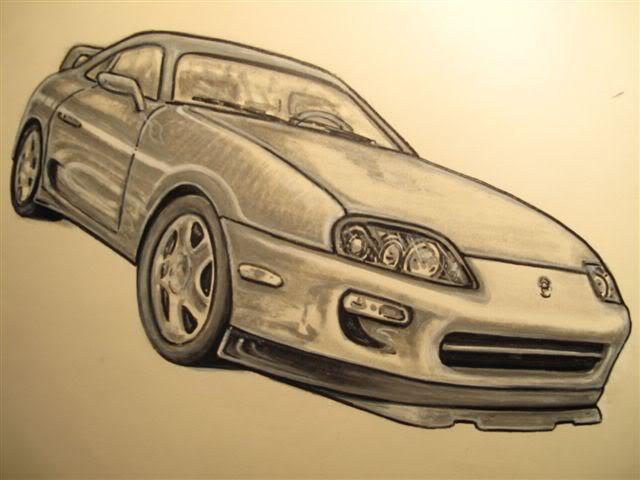 Drawn vehicle supra Supra did artwork in for