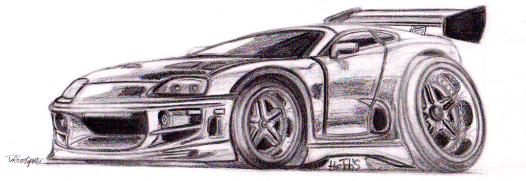 Drawn vehicle supra Toyota Furious by theTobs Supra