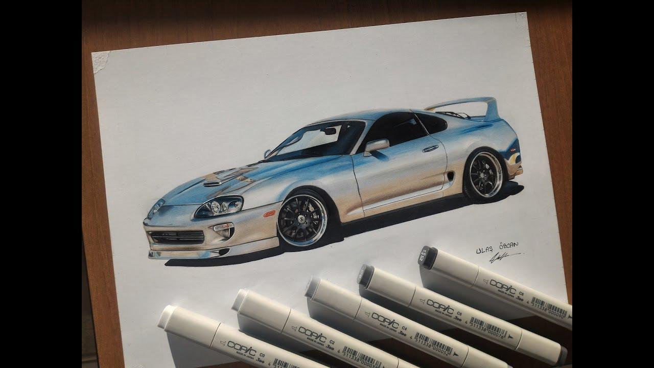 Drawn vehicle supra Markers Toyota with YouTube Supra