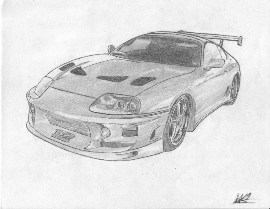 Drawn vehicle supra Drawing Jaceb3 Toyota by Up