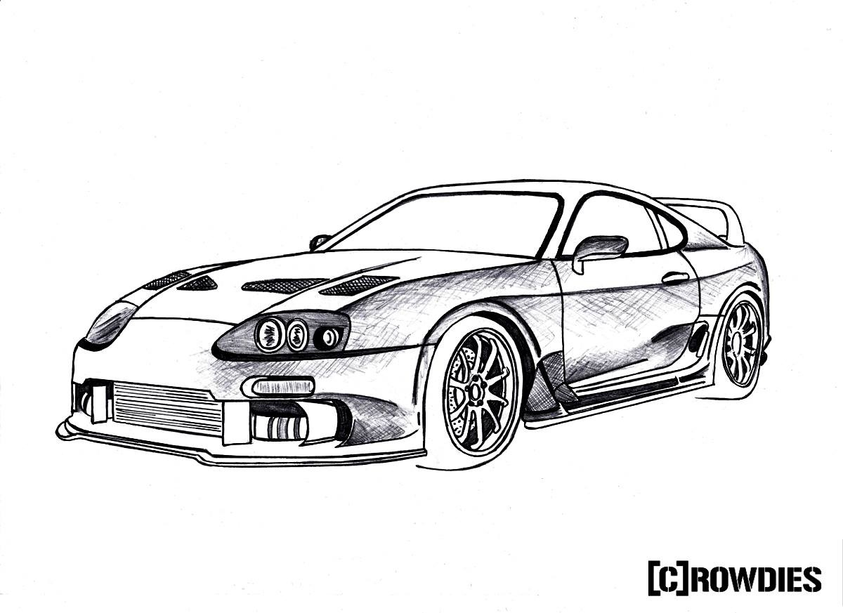 Drawn vehicle supra  #tuning Pinterest #drawing #tuning