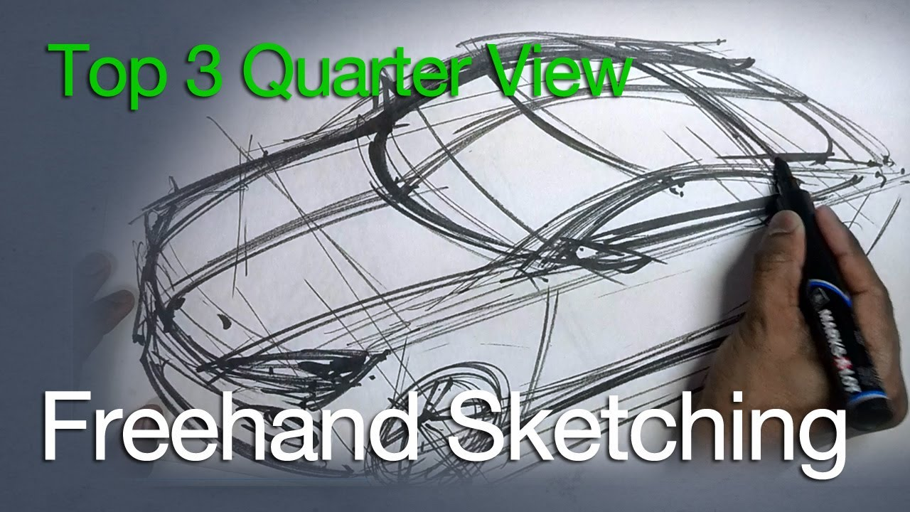 Drawn vehicle top view YouTube Unsubscribe from Sketching 3/4