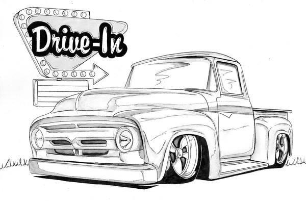 Drawn truck ford truck Artwanted de  By Com