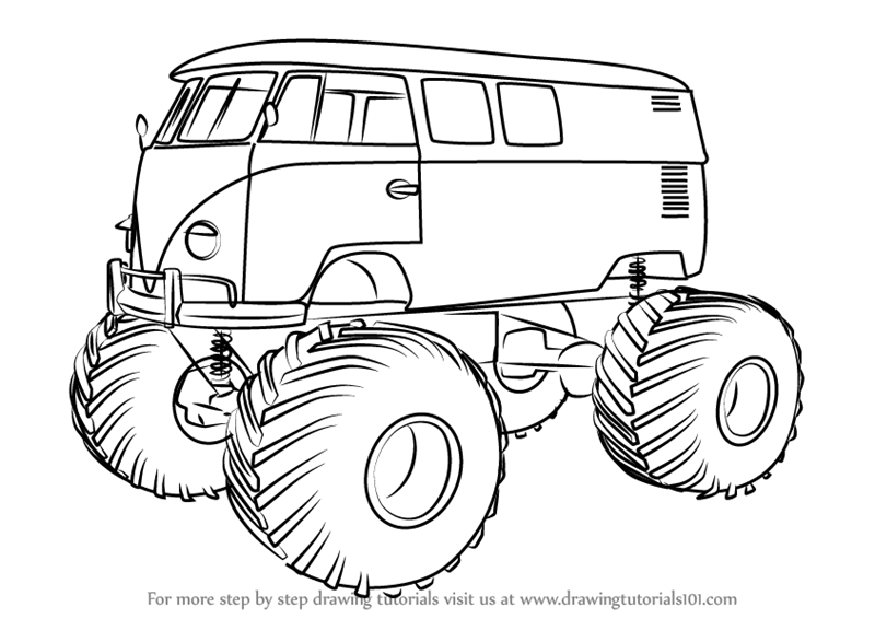 Drawn vehicle truck Step a Signup Free Monster