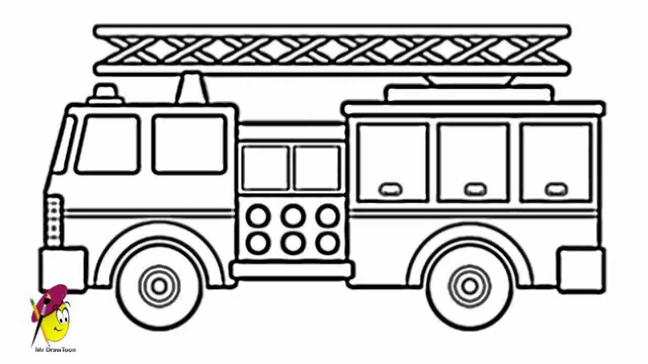 Drawn vehicle truck Fire draw Fire How Fire