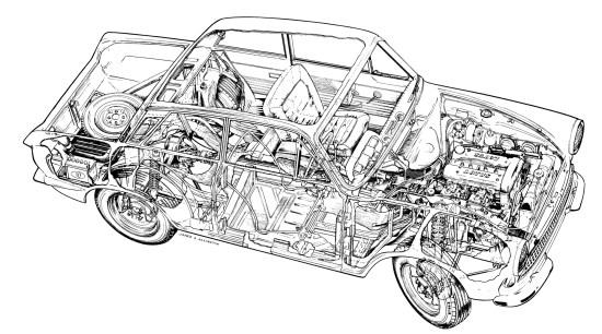 Drawn vehicle tuned car Lotus allingtonfordcortinalot Car Cortina Mk