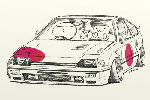 Drawn vehicle tuned car Rock Car cartoon tuning illustrationoriginal