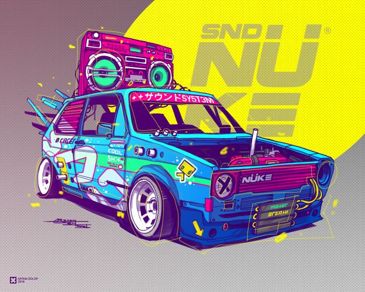 Drawn vehicle tuned car 694 Find images more this