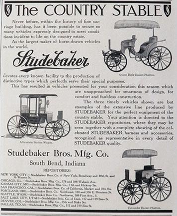 Drawn vehicle vintage car Vintage Ad Horse Ad Studebaker