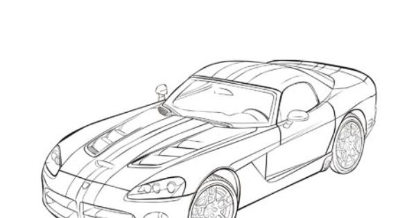 Drawn vehicle viper (2008) Cars Viper SRT10