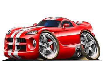 Drawn vehicle viper Car that look cars that