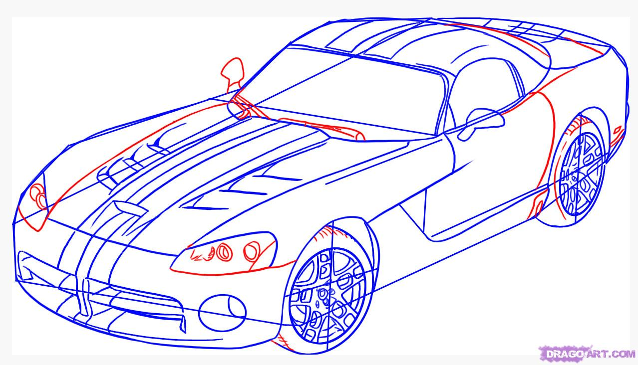 Drawn vehicle viper By Step to draw