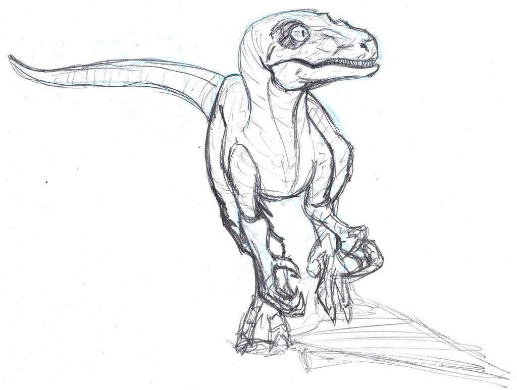 Drawn velociraptor @DeviantArt Sketch deviantart com ConstantM0tion