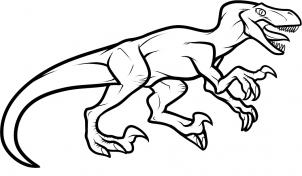 Drawn cute velociraptor 8 Hellokids how to com