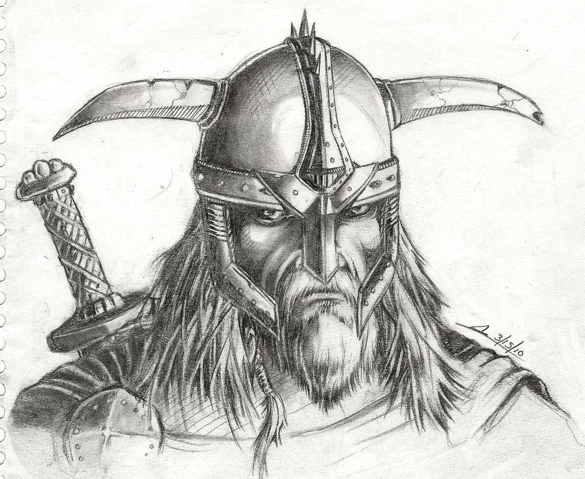 Drawn viking Images Drawing Pencil Picture Realistic