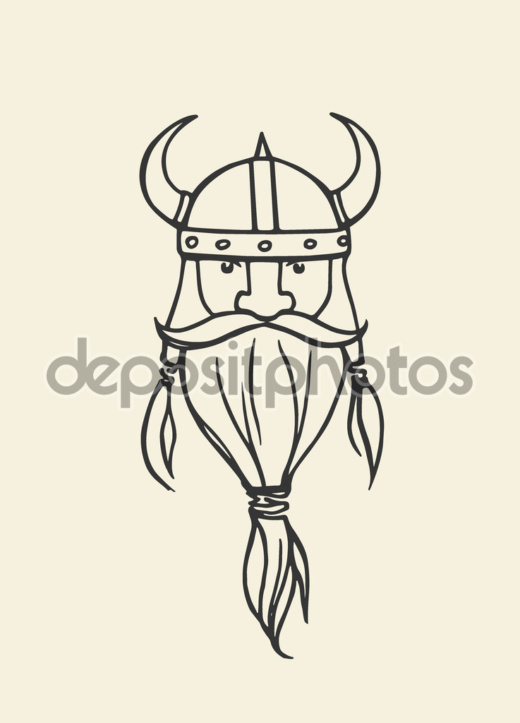 Drawn viking Hand viking drawn Stock #126183016