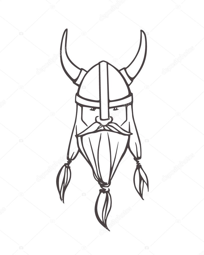 Drawn viking Hand viking drawn Stock #126183020