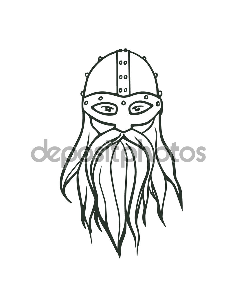Drawn viking Hand viking drawn Stock #126183028