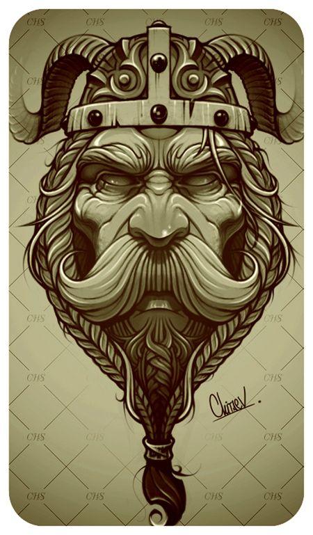 Drawn viking airbrush Behance téma Viking https://www nápadů