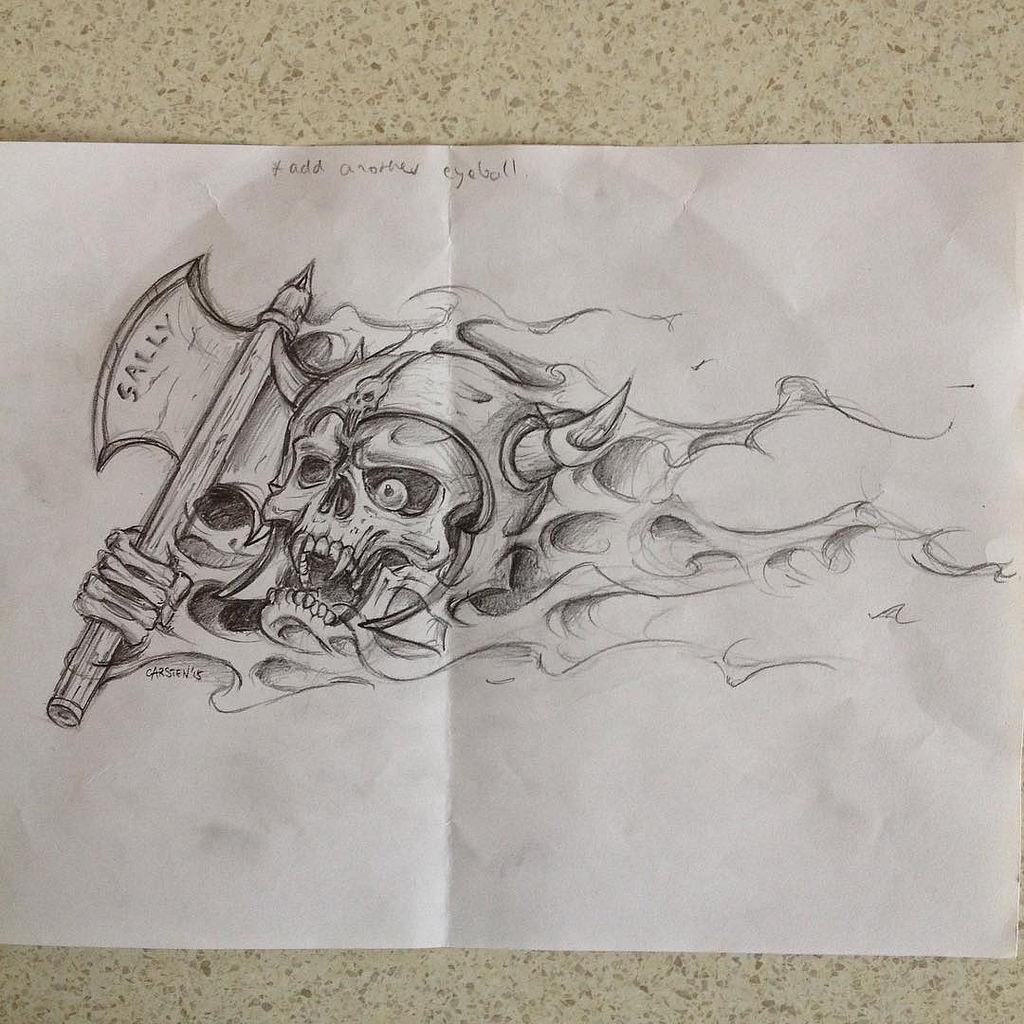 Drawn viking airbrush Flickr skull will next artwork