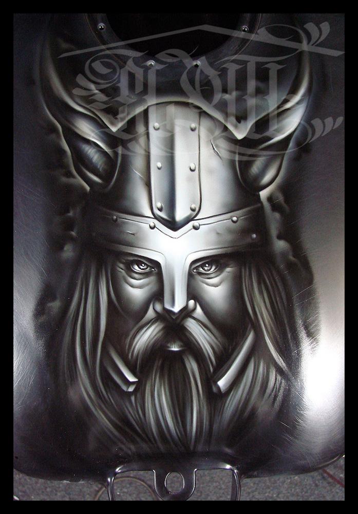 Drawn viking airbrush Pixels) Image Airbrush (JPEG viking