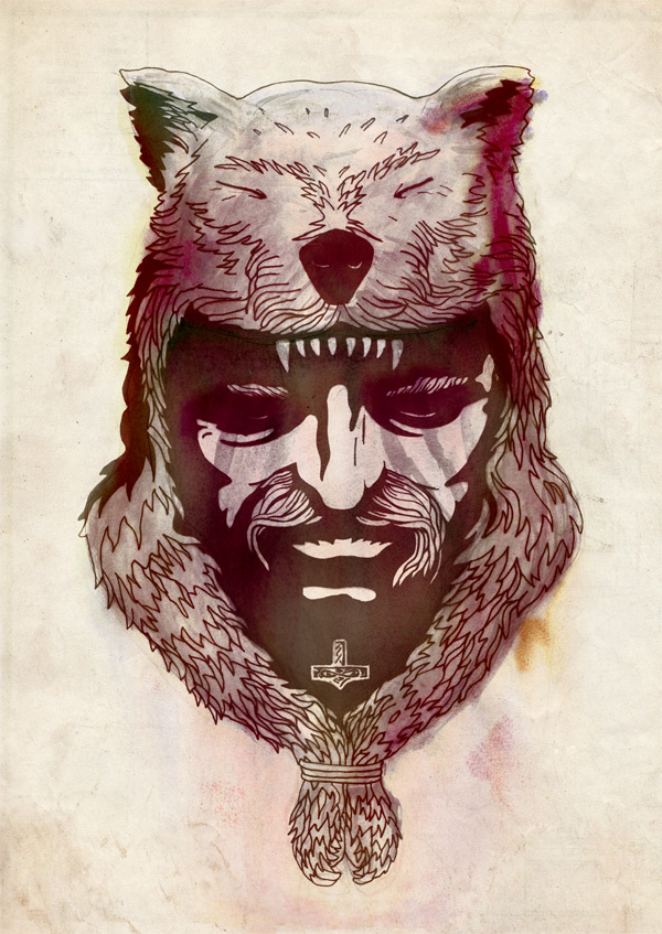 Drawn viking berserker After 'Vikings' inspired More watching