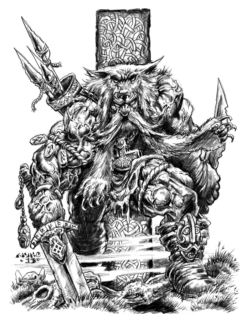 Drawn viking berserker Viking vikingmyke by Isa Viking