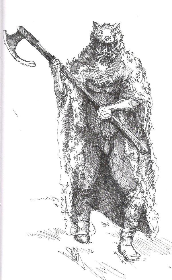 Drawn viking berserker By DeviantArt MacAulish by MacAulish