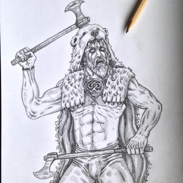 Drawn viking berserker Morning #berserk art drawing drawing