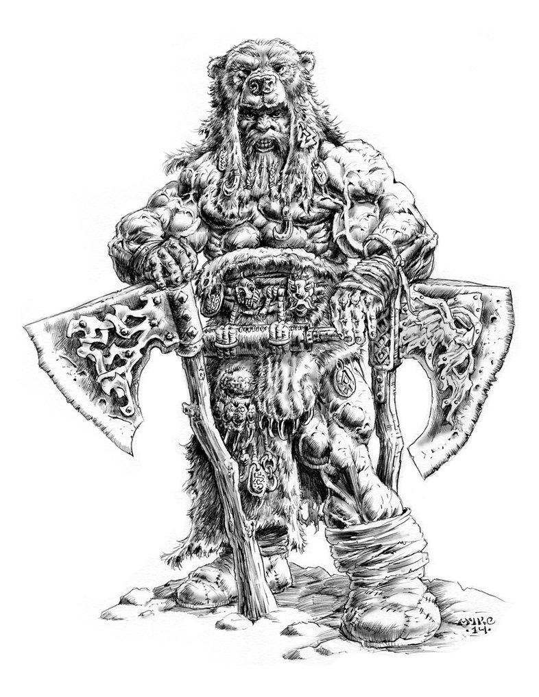 Drawn dwarf berserkers DeviantArt Berserker Warriors by