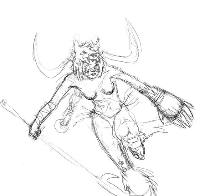 Drawn viking berserker :: Berserker Viking ChoW#225 ::