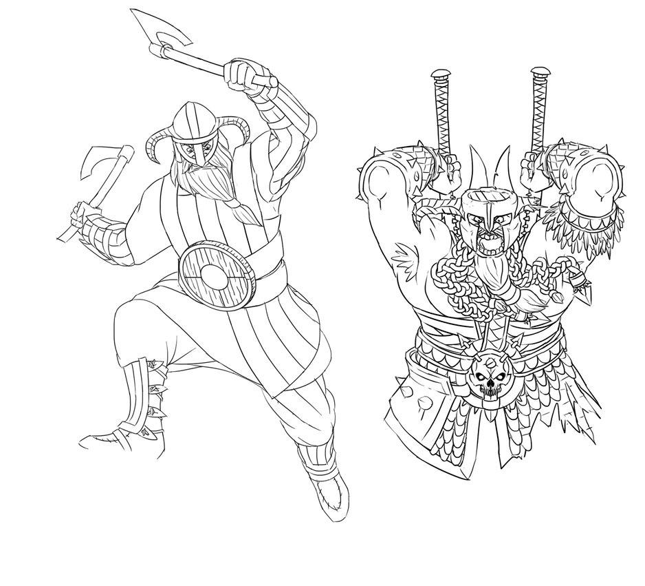Drawn viking berserker Berserker drawing on drawing DeviantArt