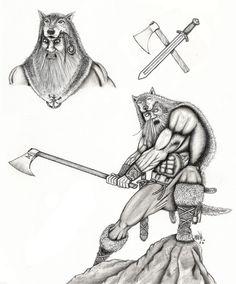 Drawn viking berserker Norse Berserker & berserker History