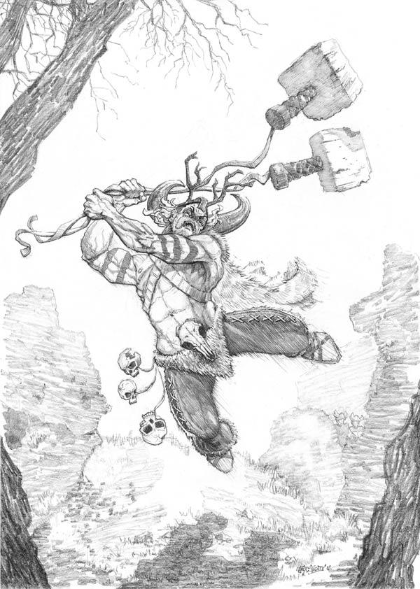 Drawn viking berserker November 2012 com alexsteadArt 5th