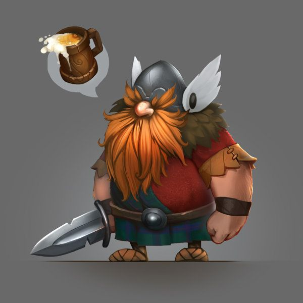 Drawn viking comic Little http://www ArtStation Mishkin Pinterest