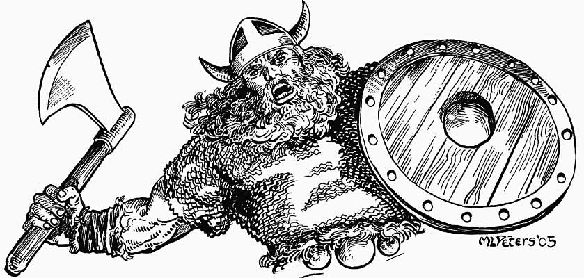 Drawn viking comic King support auctioned to drawn