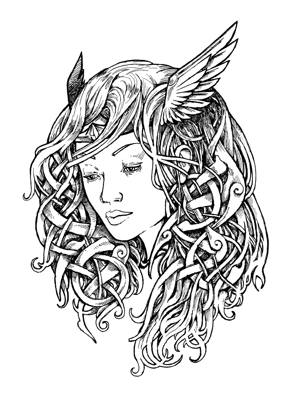 Drawn amour odin More Pinteres… drawing ink tattoo
