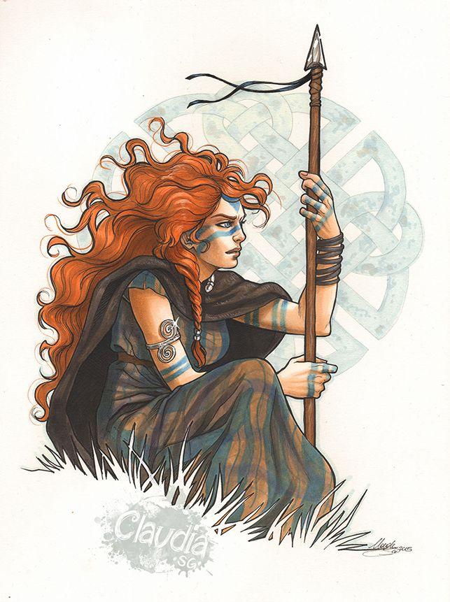 Drawn warrior rpg Viking SG huntress ideas fighter