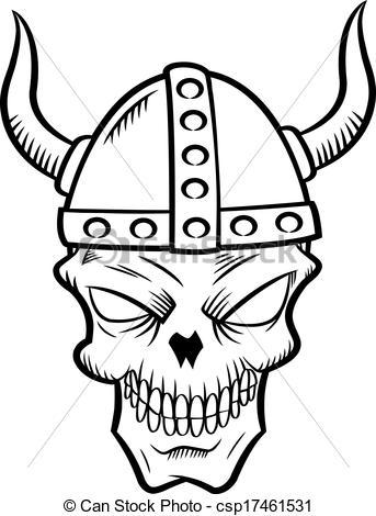 Ssckull clipart viking Csp17461531 Vectors Art helmet with
