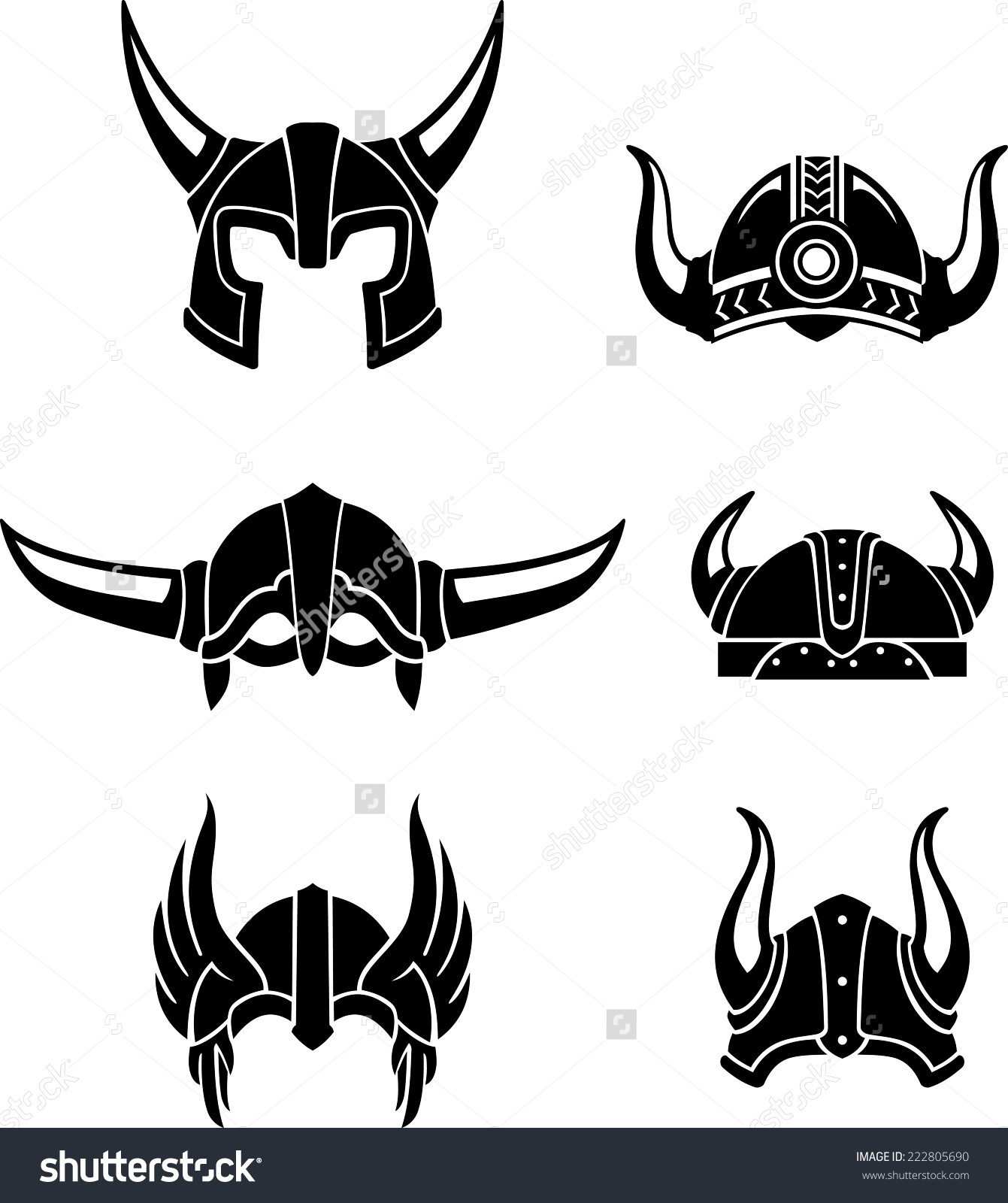 Medieval clipart viking Equipment Helmet Set gear or