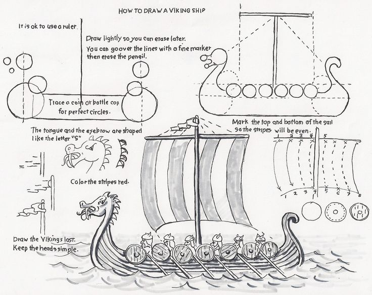 Drawn viking simple #11