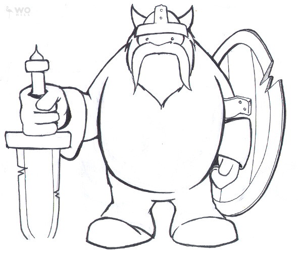 Drawn viking simple Results How Draw To Draw