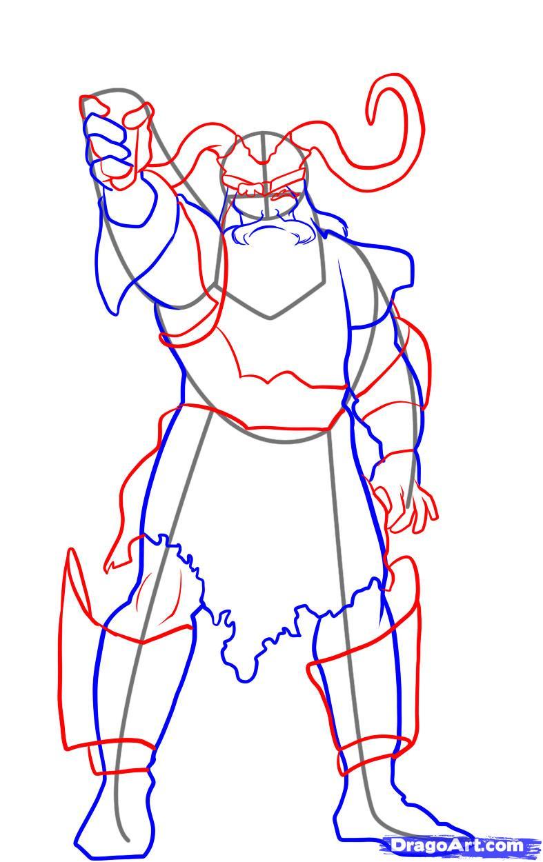 Drawn viking simple #14