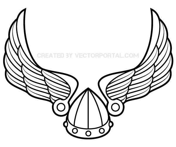 Drawn viking vector Viking Viking Vector Winged Vector