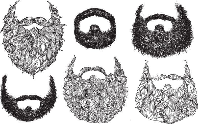 Drawn santa beard For Beard Beard  mustache