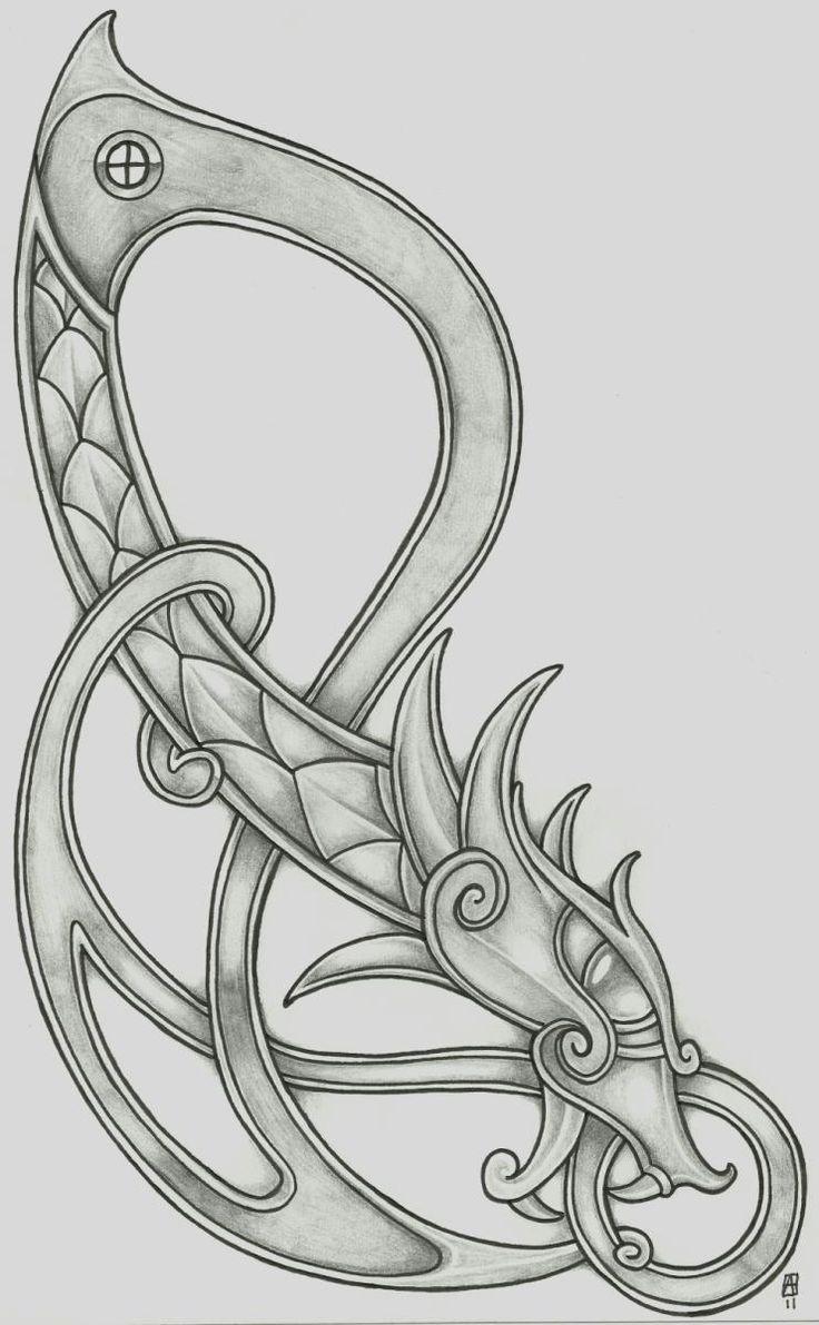 Drawn viking viking dragon 25+ @deviantART on vikingtattoo by