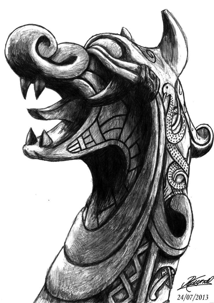 Drawn viking viking dragon Viking @deviantART RaynalJacquemin by deviantart