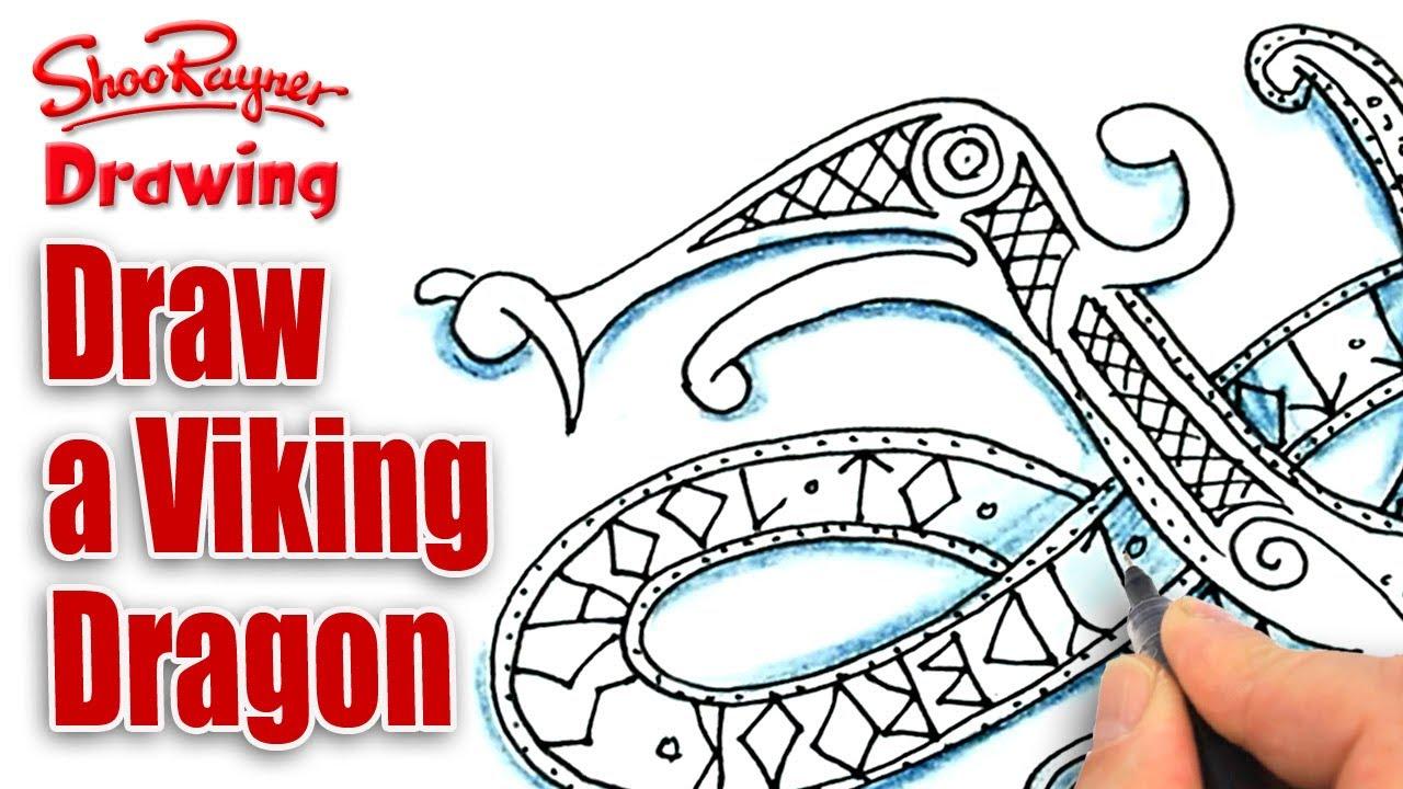 Drawn viking viking dragon YouTube Viking a spoken